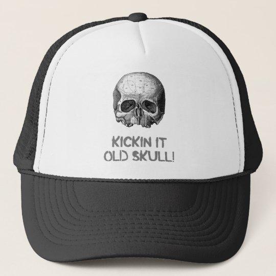 Kickin it Old Skull Trucker Hat