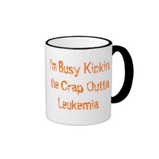 Kickin the crap Outta Leukemia Ringer Coffee Mug