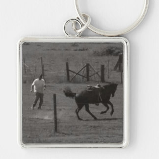 Kickin Up Dirt by Leslie Peppers Keychain