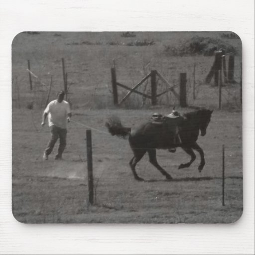 Kickin Up Dirt by Leslie Peppers Mouse Pads