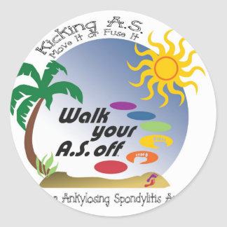 Kicking A.S. - Move It Or Fuse It Classic Round Sticker