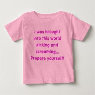 Kicking and screaming baby T-Shirt