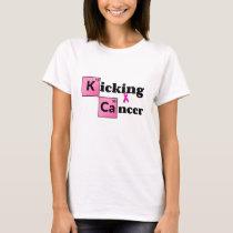 Kicking Breast Cancer T-Shirt