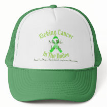 Kicking Cancer, Lymphoma Awareness - Customizable Trucker Hat