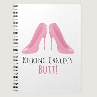 Kicking Cancer Spiral Notebook