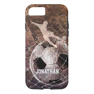 kicking for goal men's soccer iPhone 7 case