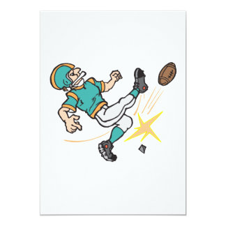 "kicking off football player 5"" x 7"" invitation card"