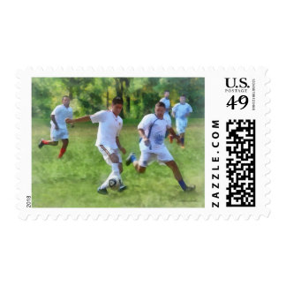 Kicking Soccer Ball Postage