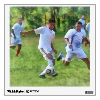 Kicking Soccer Ball Wall Sticker