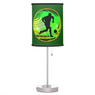 Kicking  Soccer Balls Green & Gold Desk Lamps