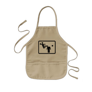 Kicking The Head Off The Neck Kids' Apron