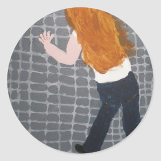 Kicking the Wall Sticker