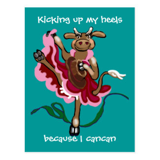 Kicking up my heels postcard