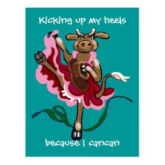 Kicking up my heels postcard