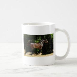Kicking up the dirt coffee mug