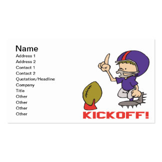 Kickoff Double-Sided Standard Business Cards (Pack Of 100)