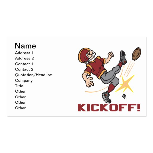 Kickoff Business Cards