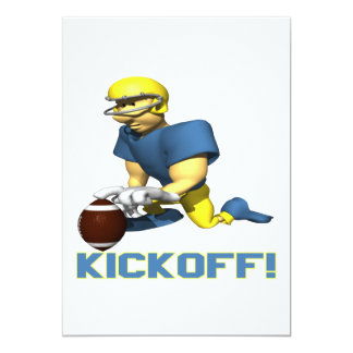 "Kickoff 5"" X 7"" Invitation Card"
