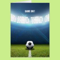Kickoff Stadium And Soccer Ball Card