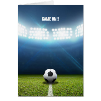 Kickoff Stadium And Soccer Ball Card