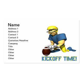 Kickoff Time Double-Sided Standard Business Cards (Pack Of 100)