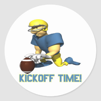 Kickoff Time Classic Round Sticker