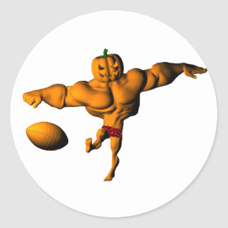 Kickoff to Halloween Night League Round Stickers