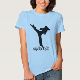 Kicks like a girl shirt