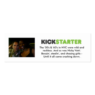 Kickstarter Cards Double-Sided Mini Business Cards (Pack Of 20)