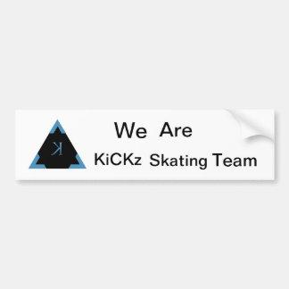KiCKz.S.T. Primera pegatina para el parachoques Pegatina Para Auto