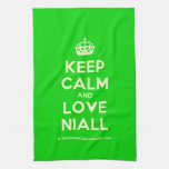 [Crown] keep calm and love niall  Kicthen Towels