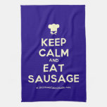 [Chef hat] keep calm and eat sausage  Kicthen Towels