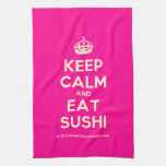 [Crown] keep calm and eat sushi  Kicthen Towels