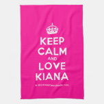 [Crown] keep calm and love kiana  Kicthen Towels