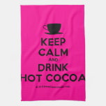 [Cup] keep calm and drink hot cocoa  Kicthen Towels