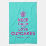 [Cupcake] keep calm and love cupcakes  Kicthen Towels