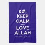 [No Crown] keep calm and love allah  Kicthen Towels