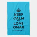 [Crown] keep calm and love omar  Kicthen Towels