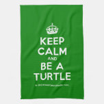 [Crown] keep calm and be a turtle  Kicthen Towels