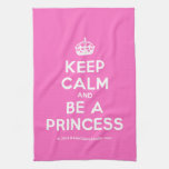 [Crown] keep calm and be a princess  Kicthen Towels