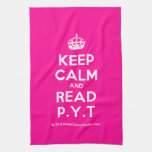 [Crown] keep calm and read p.y.t  Kicthen Towels