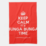[Crown] keep calm it's bunga bunga time  Kicthen Towels