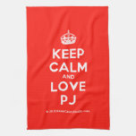 [Crown] keep calm and love pj  Kicthen Towels