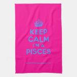 [Crown] keep calm i'm a pisces  Kicthen Towels