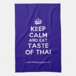 [Crown] keep calm and eat taste of thai  Kicthen Towels