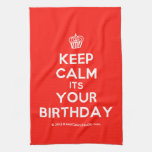 [Cupcake] keep calm its your birthday  Kicthen Towels