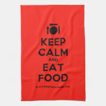 [Cutlery and plate] keep calm and eat food  Kicthen Towels