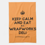 [Crown] keep calm and eat at wrapworks deli  Kicthen Towels