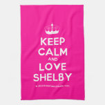 [Knitting crown] keep calm and love shelby  Kicthen Towels