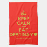 [Crown] keep calm and eat destinay♥  Kicthen Towels